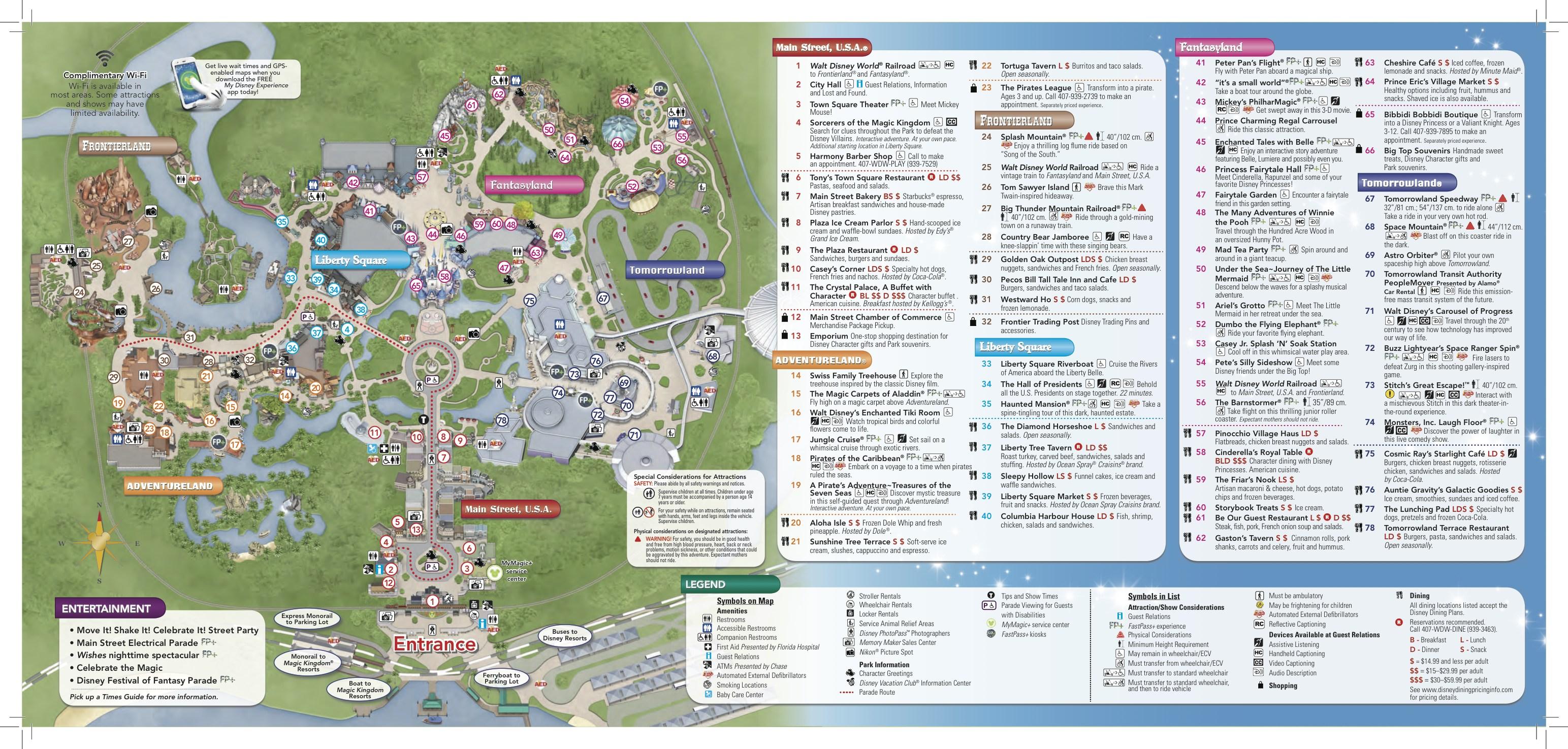 orlando vacation home disney magic kingdom map